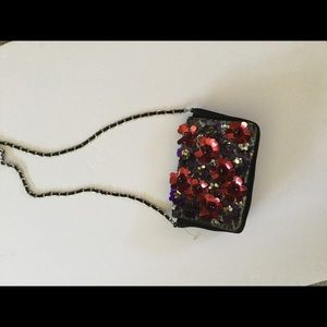 Free People new Starlight crossbody sequined suede